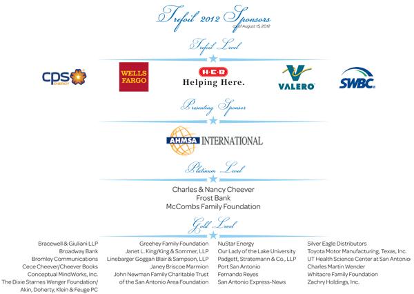 Trefoil 2012 Sponsors