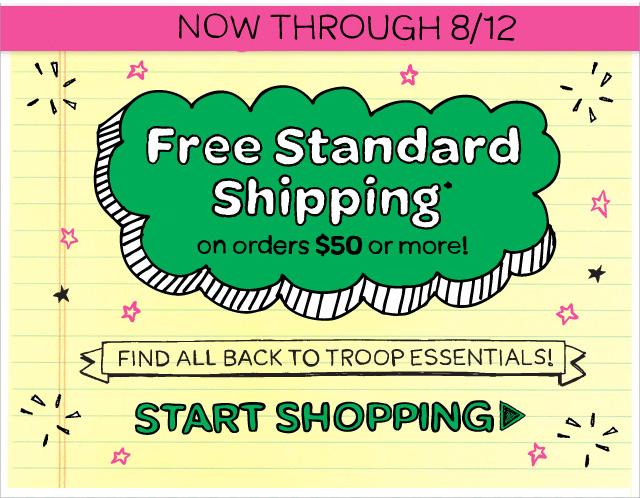 Free shipping through 6/12!