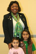 Jackie L. Gorman with girls