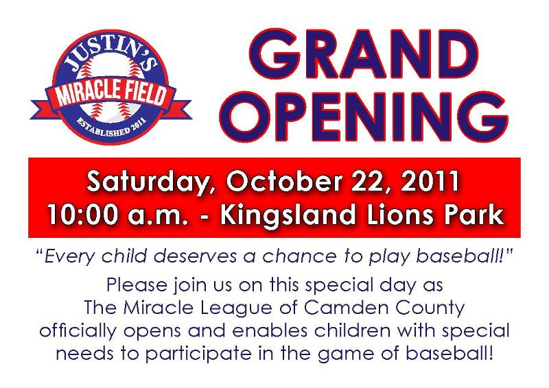 Miracle League Grand Opening