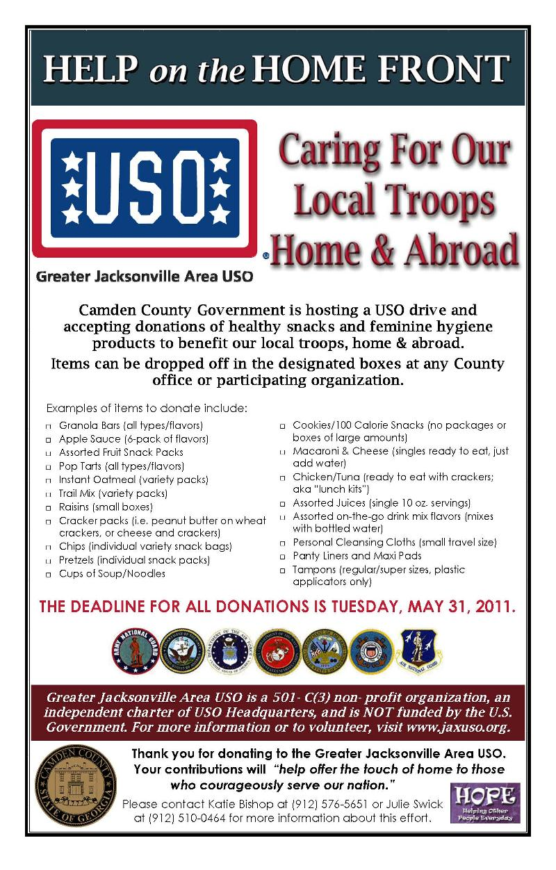 USO Drive Flyer