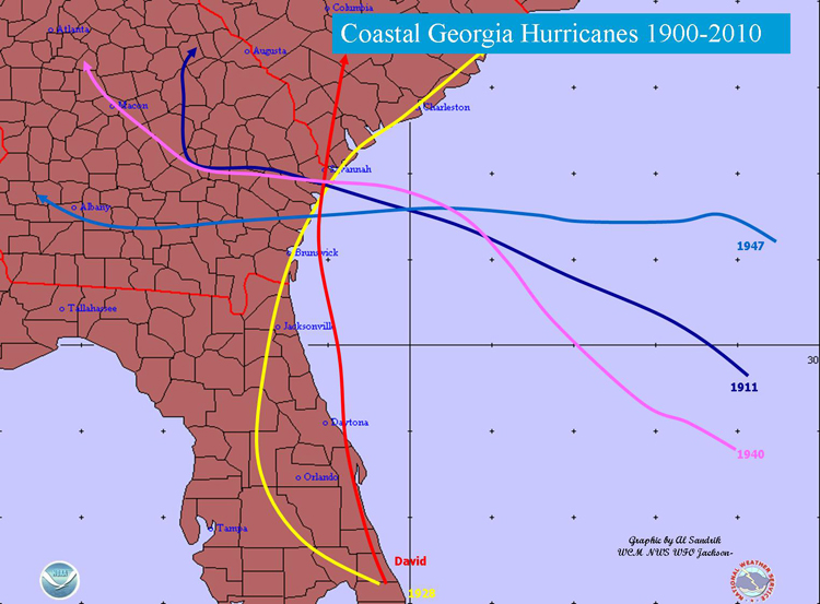 Hurricane Guide Provided By The Board Of County Commissioners - Georgia map hurricane