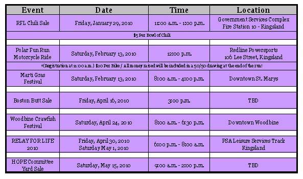 RFL Events Calendar