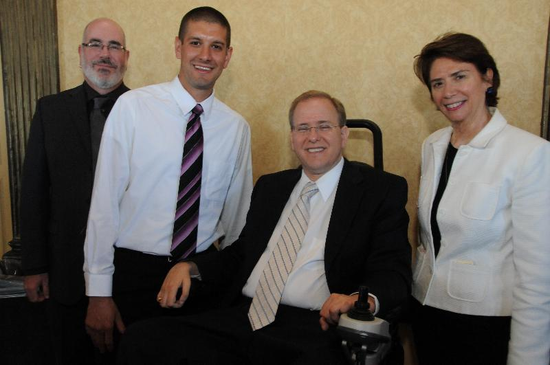 Image of Oce Harrison, Christopher Degrave, Casey Gartland, and Jim Langevin