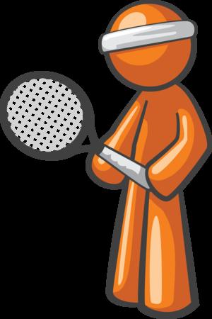 Tennis Player - Orange Man