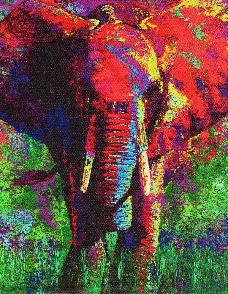 Leroy Neiman Elephant Elephant  2000  Leroy Neiman s