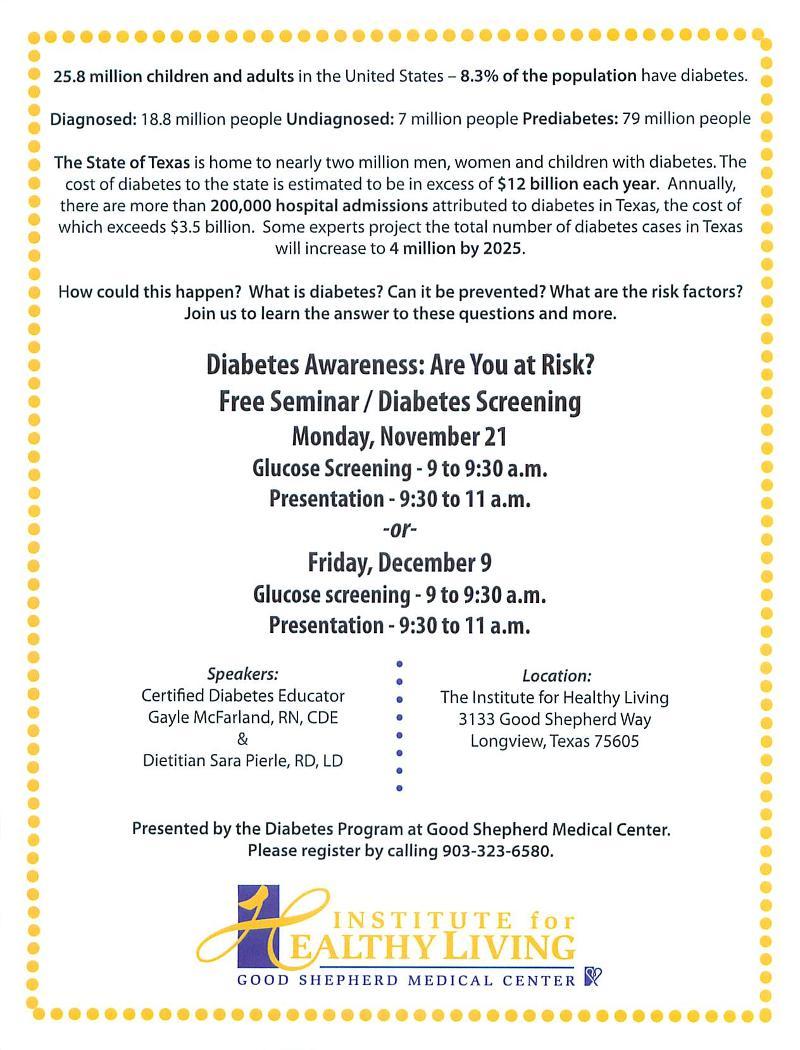Diabetes Awareness Seminar