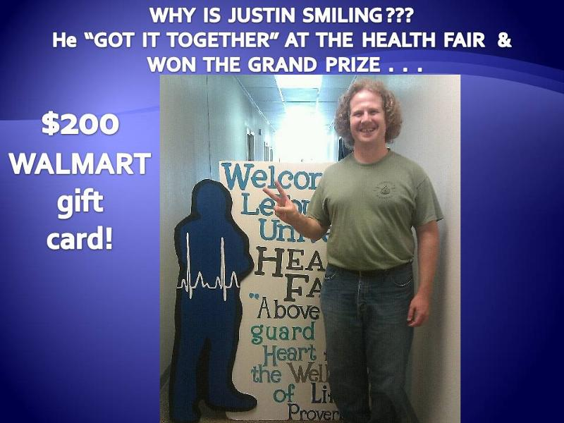 Health Fair Winner
