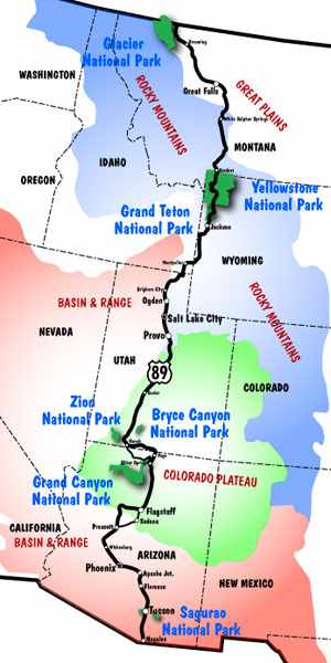 Map Of Highway 89 In Arizona.Us Route 89 Appreciation Society Newsletter Arizona Centennial