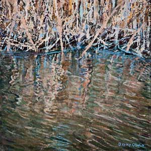 Barbara Kemp Cowlin Painting-Pena Blanca Reflection II