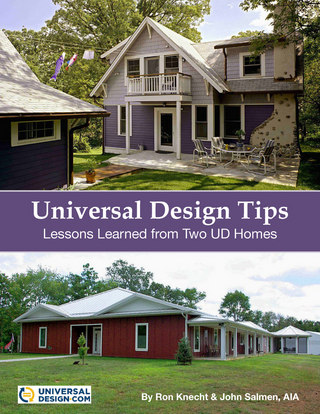 Book cover: universal design tips. Lessons learned from two UD homes.