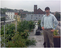 on rooftop-orange