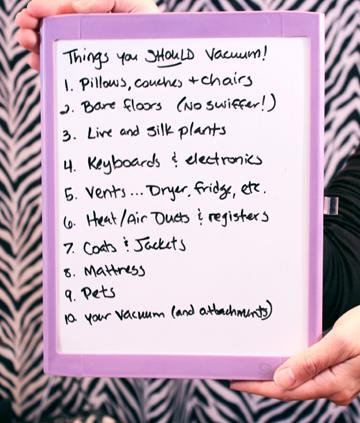 10 things you should vacuum