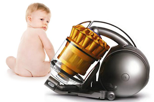 Diaperless Baby & Bagless vacuum