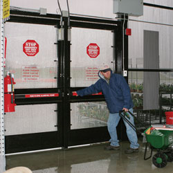 The WDE EasyKits provide a secure 2-point locking system with 15-second delay and 100dB alarm when someone attempts to exit. & Weatherized Delayed Egress Exit Device