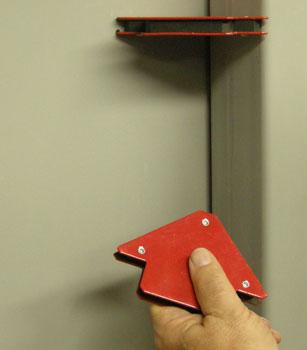 Arrow magnets on door