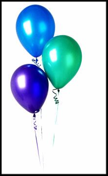 End of season party - balloons