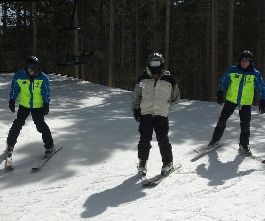 Eric Progresses to Alpine Skiing