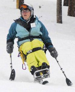 Kim Jackson on her mono-ski