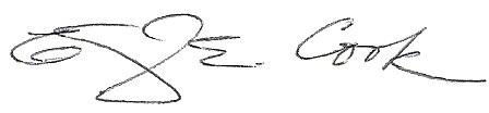 Cook signature