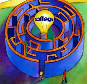 College maze