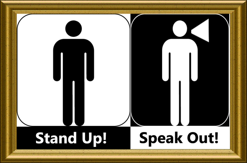 August 2012 NL - Stand Up Speak Out logo