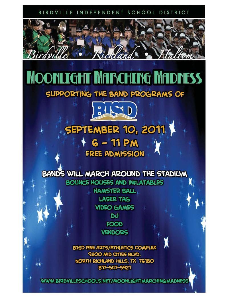 Birdville Isd B News 9 2 11 Moonlight Marching Madness