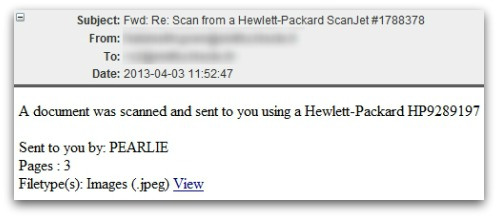 HP Malware scam