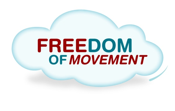 Freedom of movement logo