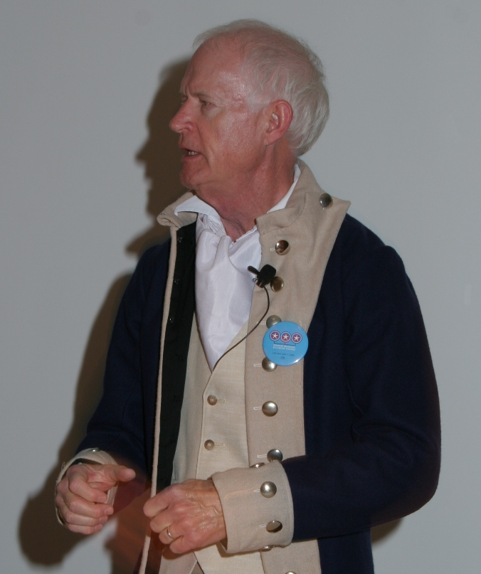 Professor Don Hickey as Alexander Hamilton