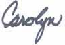 Carolyn Signature