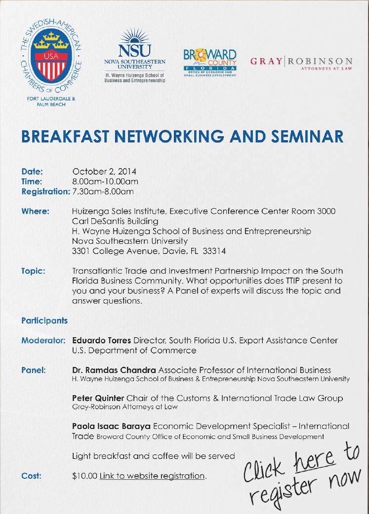 SACC breakfast seminar