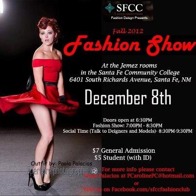 SFCC Fashion Show 2012 flyer