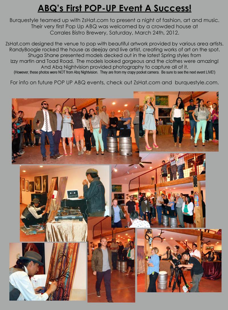 Pop Up Fashion Art Show - CorralesNM Mar24 2012