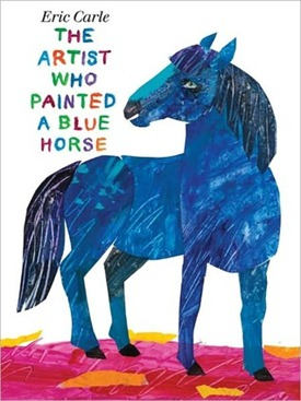 artist who painted blue horse cover image