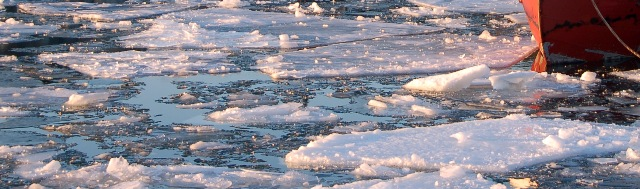 icy harbor in Bayfield