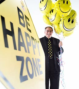 Be Happy Zone Sign