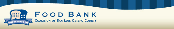 SLO Food Bank header