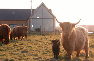 Eco friendly, architect designed home in the Scottish Highlands