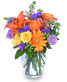 Leave a bunch of flowers for your swap partners