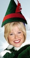 Suzie Price as a Holiday Elf