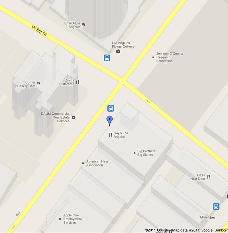 Google Map of 800 S. Figueroa St., Los Angeles, CA 90017