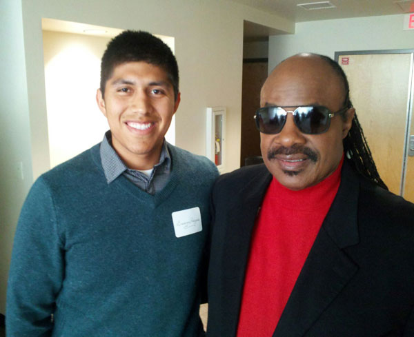 Boanerges Rodriguez and Stevie Wonder