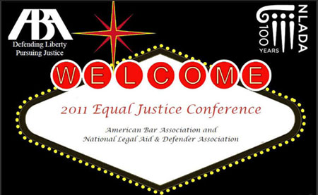 Flyer for Equal Justice Conference 2011