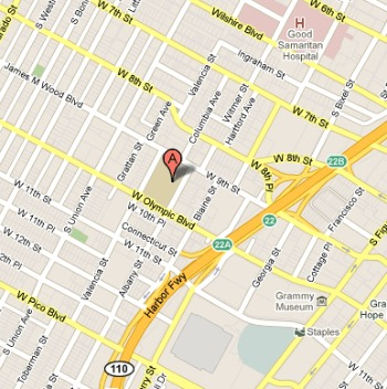 Image of Google Map of Loyola Law Schoo