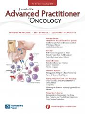 Cover of The Journal of Advanced Practitioner in Oncology July/August edition