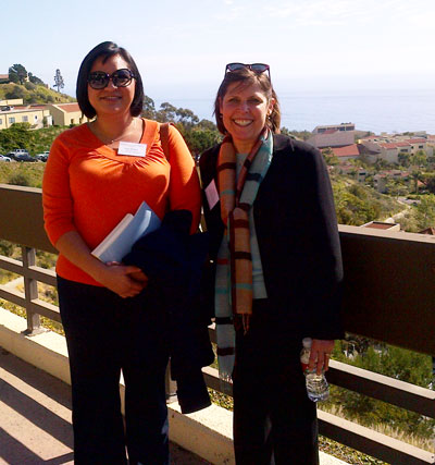 Paula Pearlman and Anna Rivera in Calabasas