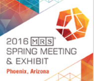 MRS SPring Meeting 2016