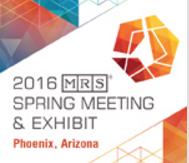 MRS SPring Meeting 2016
