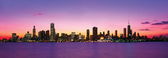 Chicago Purplae Skyline